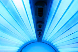 Interior of tanning bed in Baton Rouge, LA